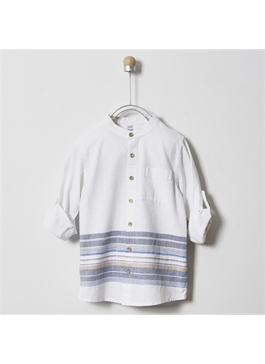 Panço Erkek Çocuk Uzun Kollu Gömlek 2011BK06008 Beyaz